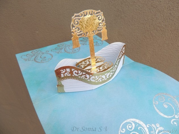 Boat Pop Up Card 6