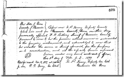 SELLERS-WITT LAND DEED. BK 70, Pg 575