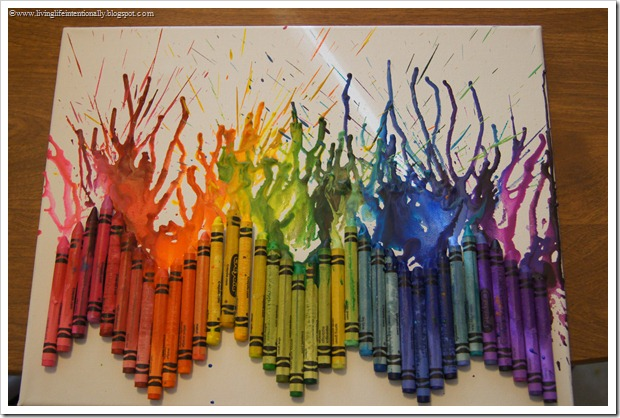 Melted Crayon Artwork for Kids #artforkids #kidsactivities #crayons #kids