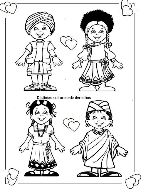 Colorear Dibujos De Los Derechos De Los Niños