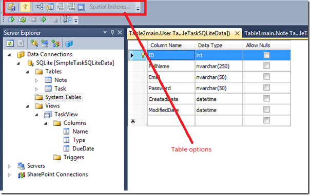 Something on  net: Using SQLite in Visual Studio 2010, with
