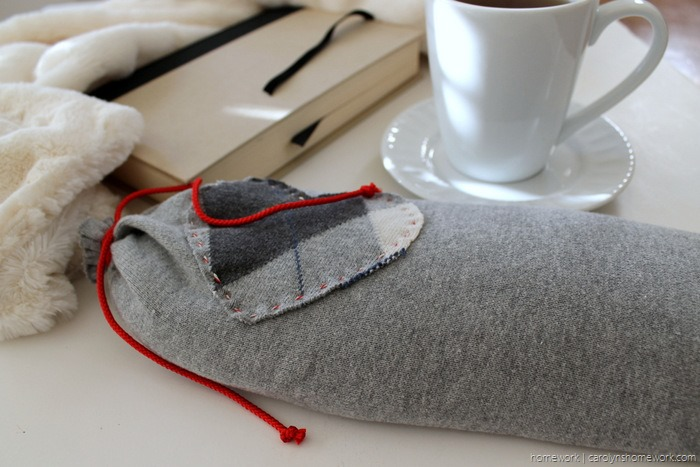 Upcycled Sweater to Heating Pad via homework - carolynshomework (8)