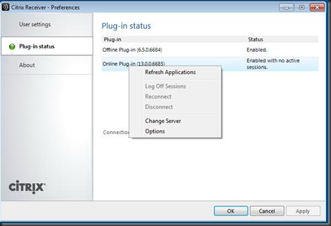 Citrix: How to change server in Citrix Receiver 3 0   Fdo's