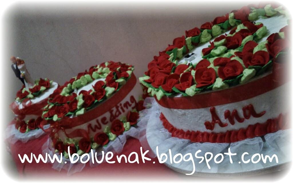Toko Kue Bolu Enak Wedding Cake Tipe Mawar Spesial
