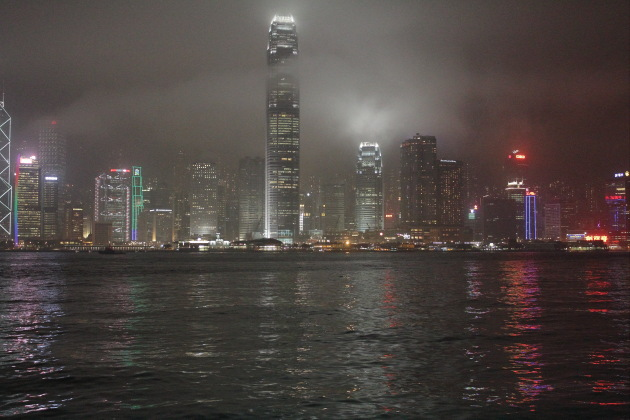 Hong Kong Skyline covered in mist