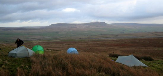 BORRINS MOOR CAMP WITH PEN-Y-GHENT