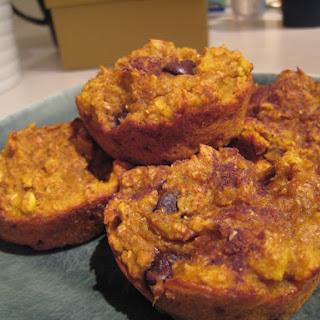 Pumpkin Banana Bran & Oatmeal Muffins.