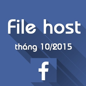 File host vào Facebook mới nhất tháng 10/2015