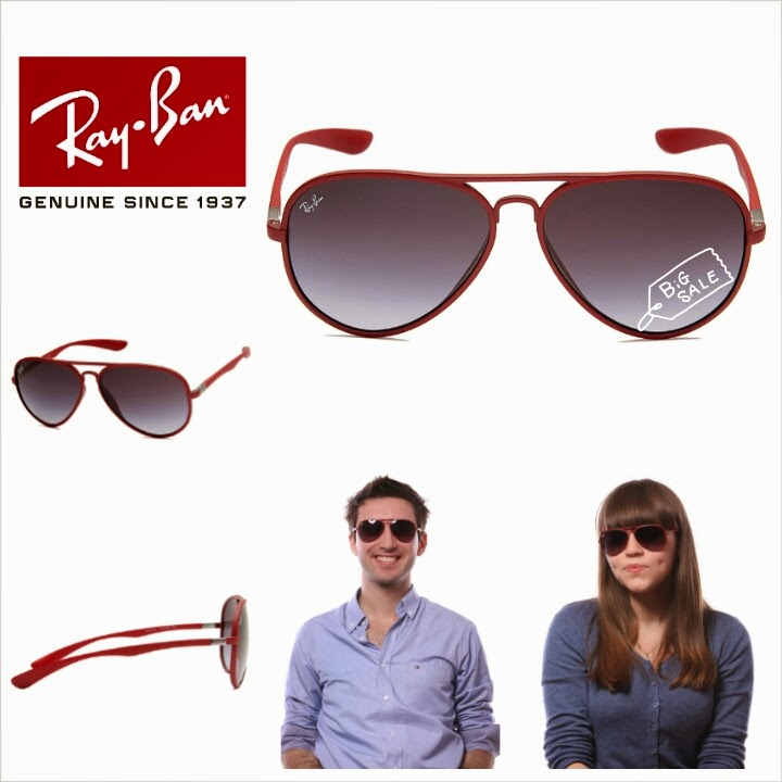 8318d3bd817 RAY BAN RB4180 AVIATOR LITEFORCE (COLOUR   RED) ~ SOLD OUT! - SHANTEK  COLLECTION