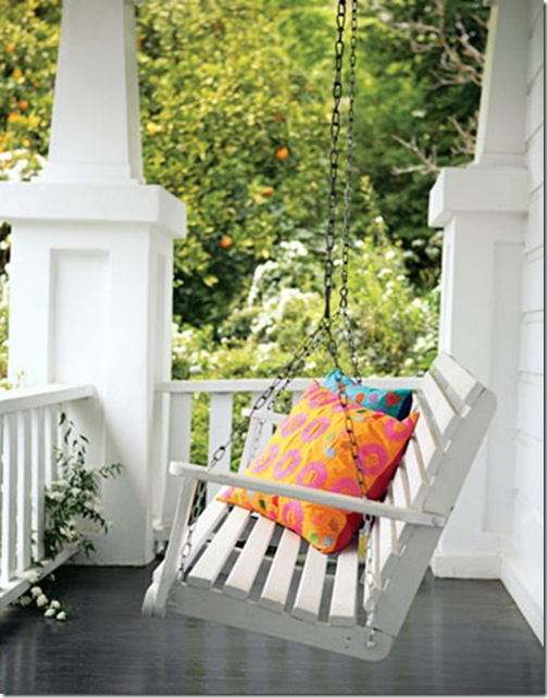 Porch swing on an old victorian house