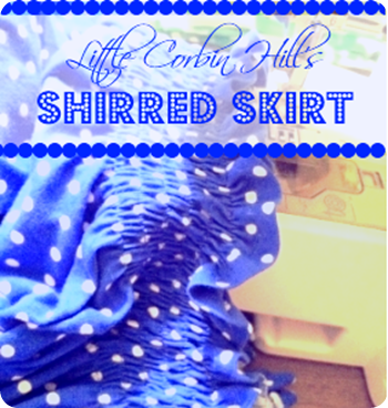 shirred skirt preview