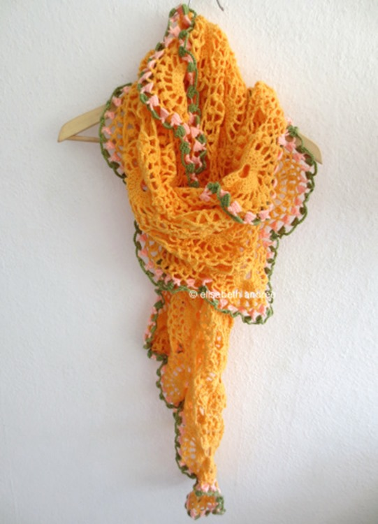 orange-drape-on-clothes-hanger