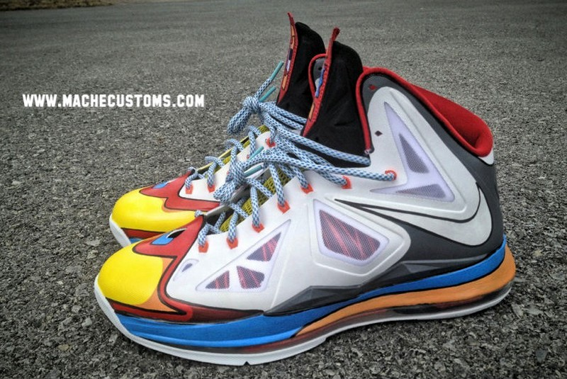 b46c6e53a92ed ... New Nike LeBron X 8220Stewie8221 Custom Designed by Mache ...