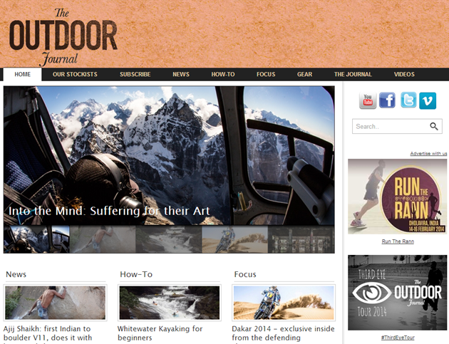 The Outdoor Journal Adventure site