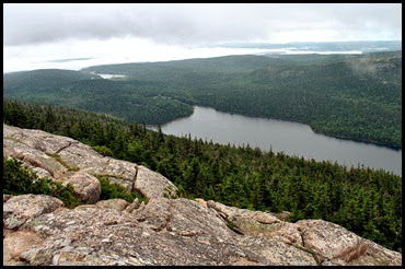 02p1 - Pemetic Mtn Hike - View from Summit - Jordan Pond