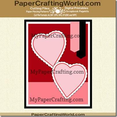 aa double heart card elements ppr cfj-490