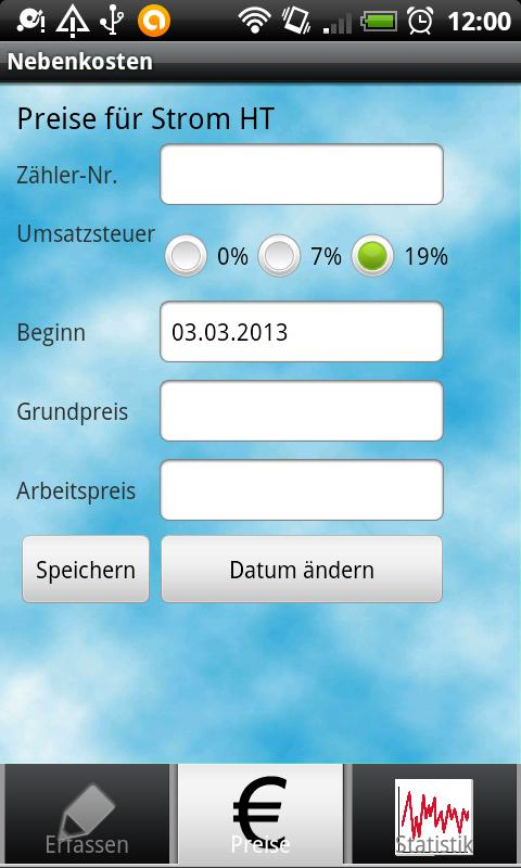 Nebenkosten - screenshot