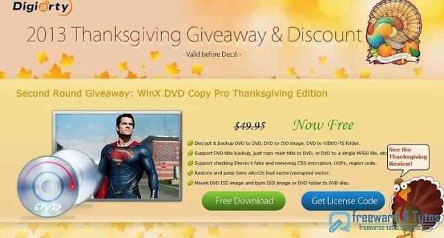 Offre promotionnelle : WinX DVD Copy Pro à nouveau gratuit !