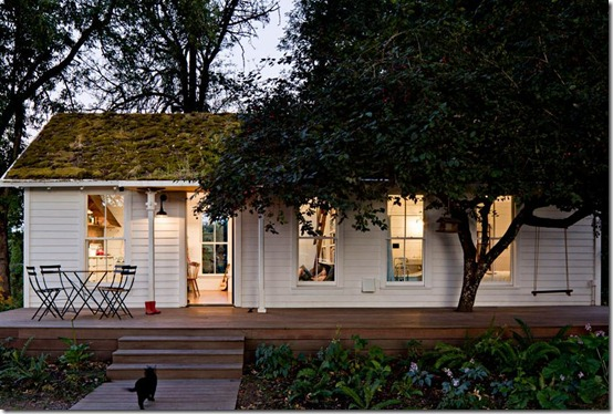 Tiny House Exterior with Green Roof by Jessica Helgerson Interior Design, photo Lincoln Barbour