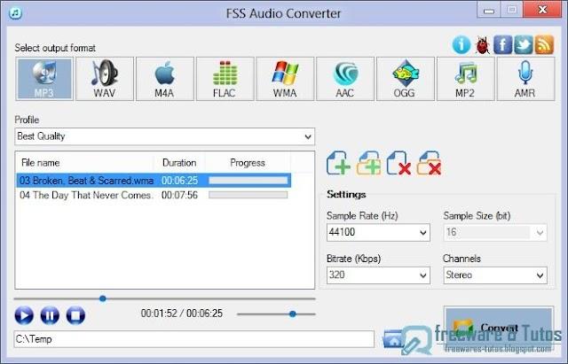 FSS Audio Converter : un nouveau logiciel de conversion audio