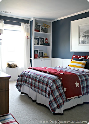 The Colors And Decor Of This Room From Thrifty Decor Chick Make It Perfect  For A Boy To Transition From Little Boyu0027s Room To A Teen Room With Just A  Few ...