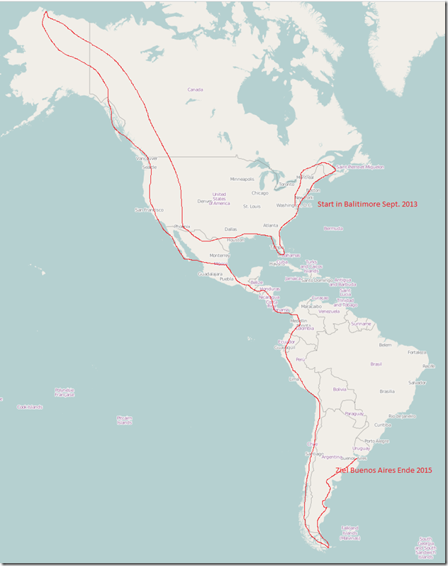 2013-07-18_1650_Amerika_Karte_Open_Source mit Route