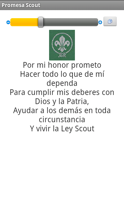 Catalogo Scout: captura de pantalla