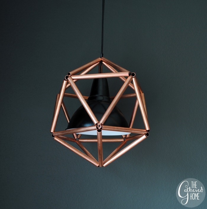DIY Copper Pipe Icosahedron Pendant Light