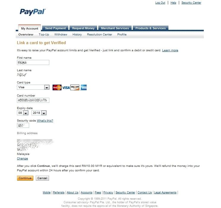 mia famirah corner link and verified paypal using maybank visa debit card. Black Bedroom Furniture Sets. Home Design Ideas