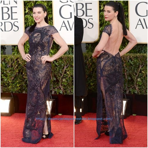 Julianna Margulies arrives at the 70th Annual Golden Globe Awards