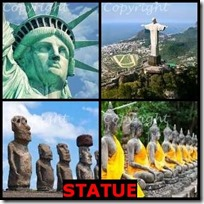 STATUE- 4 Pics 1 Word Answers 3 Letters