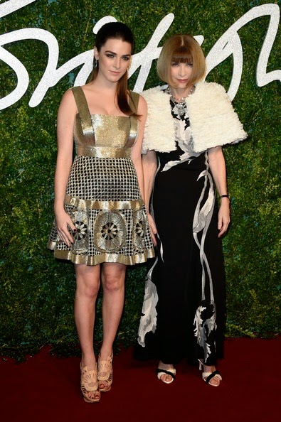 Anna Wintour and daughter Bee Shaffer attend the British Fashion Awards