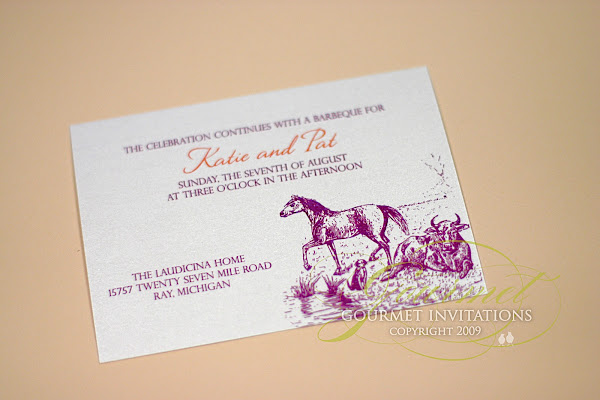 Fuschia And Orange Wedding Invitations: Katie + Patrick: Farm Theme Wedding Invitations