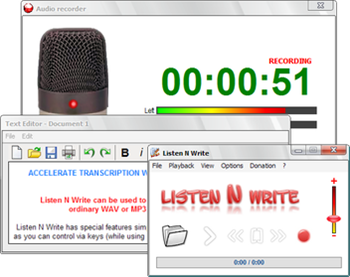 Listen and Write – Transcribe Softwre