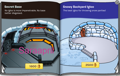 Saraapril in Club Penguin: Igloo Catalog CHEATS April 2013 :)