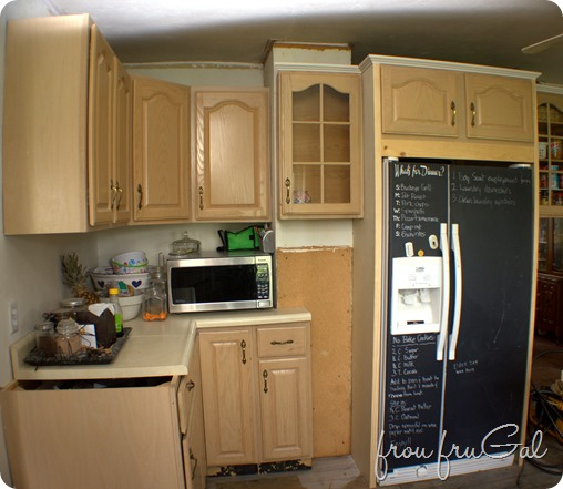 Kitchen - Fridge Wall Progress