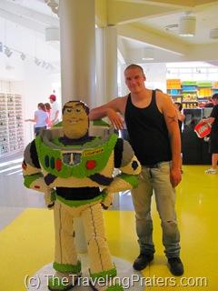 Buzz Lightyear LEGO sculpture