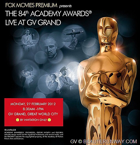 Golden Village FOX International Channels live screening 84th ACADEMY AWARDS OSCARS FOX Movies Starhub GV Grand  27 February 2012