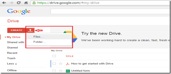 Google Drive file upload