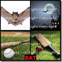 BAT- 4 Pics 1 Word Answers 3 Letters