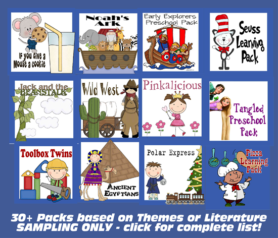 Themed Family Leanring Packs for 1st Grade