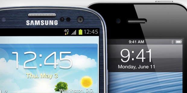 """Siapa """"Raja"""" Ponsel Pintar Dunia, Apple atau Samsung?"""