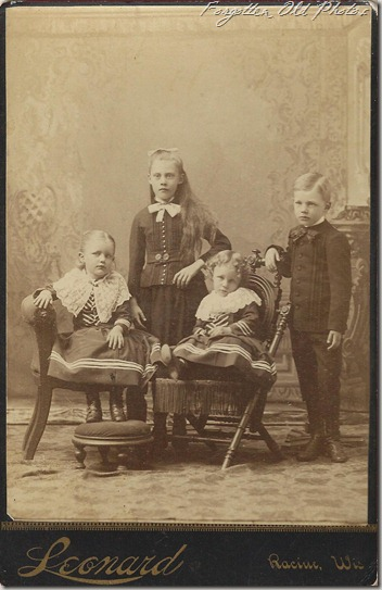 Cabinet Card Racine Wisconsin Kids DL Antiques