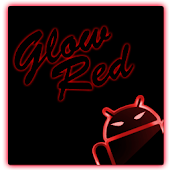 GOKeyboard Theme Glow Red