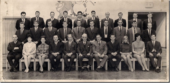 Wakefield Detective Training School 1969.Middle Row  - Third from Left : Jim McIntosh (Durham)
