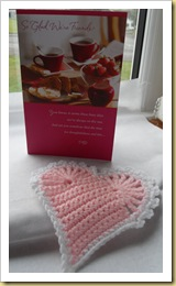 Crochet Heart and card from Cyn