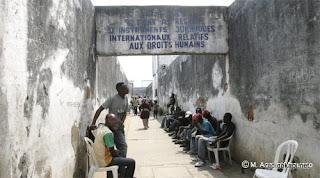 le couloir du centre pénitencière de Makala à Kinshasa