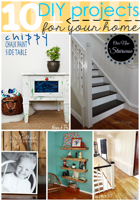 10  DIY Projects for your home at GingerSnapCrafts.com #features #diy