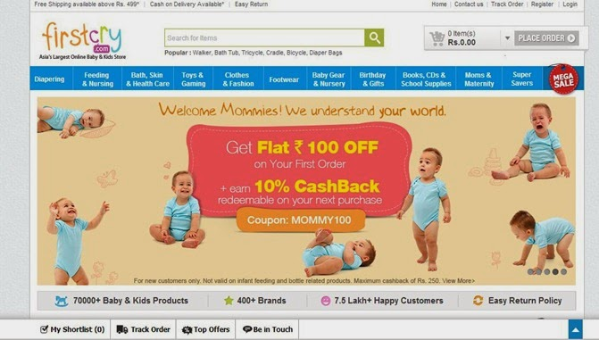 Experiences with FirstCry com (Online shopping portal review