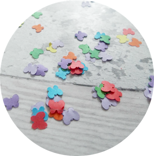 How to make your own confetti butterfly paper punched confetti